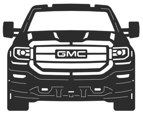 2018 gmc sierra front with tow mirrors 10 ga ms