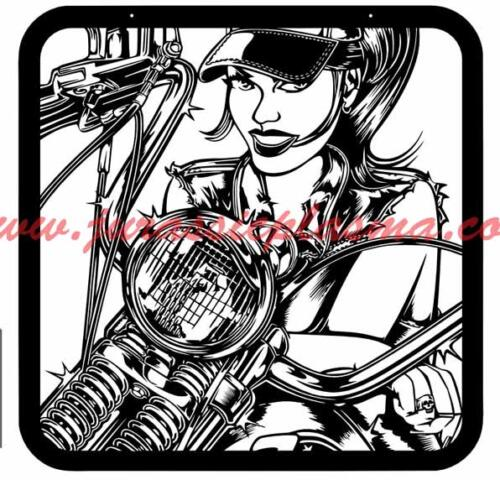 Biker chickC