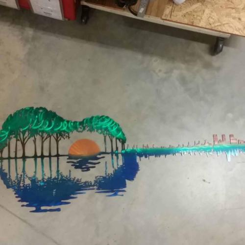 Palm tree guitar #24