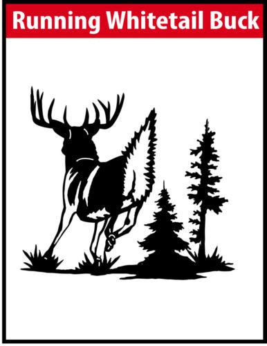 Running Whitetail Buck JPG Image File