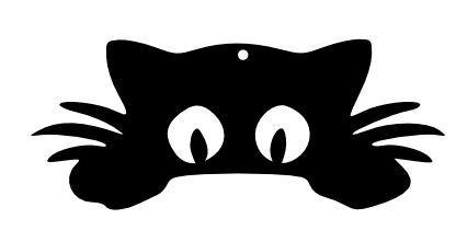 cat peeking scrap 6