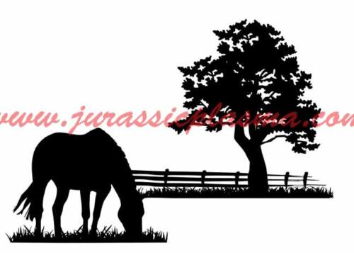 horse and fenceAE