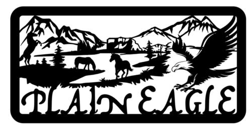 horse lake mountain scene #50