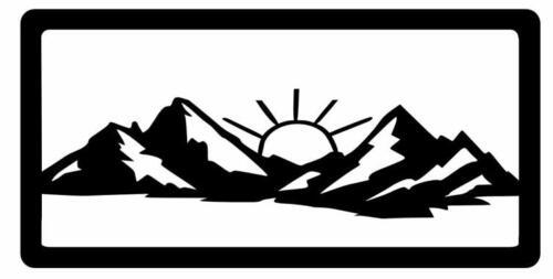 mountains sunbusrt with framec