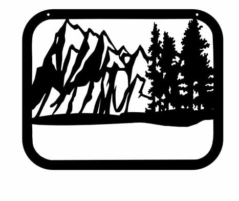 mountian and trees frame add name 24x 20c