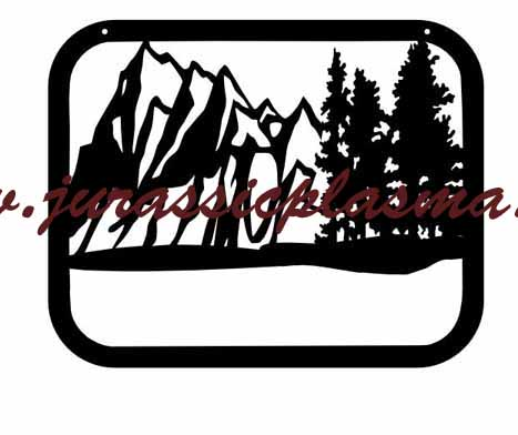 mountian and trees frame add name 24x 20cCJ (1)