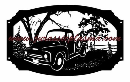 old IH   truck with trees and frame 24x15cCU (1)