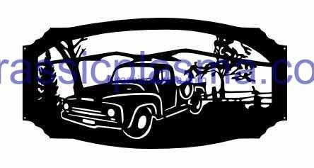 old pickup in frame imageWM (1)