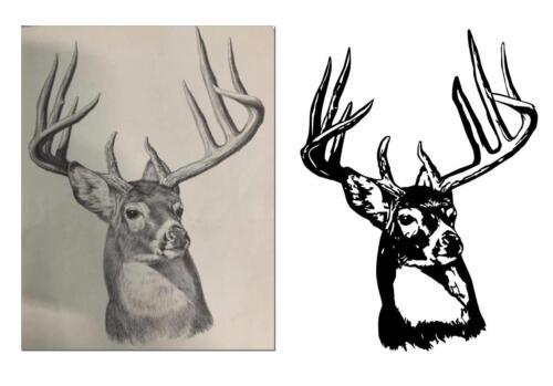 real deer trace look
