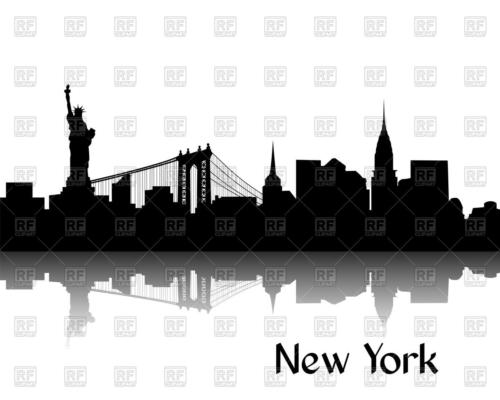silhouette-of-cityscape-of-new-york-brooklyn-bridge-statue-of-liberty-and-manhattan-Download-Royalty-free-Vector-File-EPS-89972